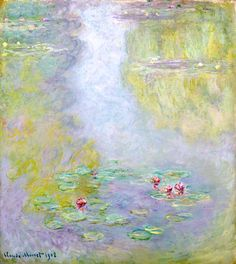 Water Lilies, 1908 by Claude Monet Monet Paintings, Impressionist Paintings, Seascape Paintings, Claude Monet, Lily Painting, Hand Painting Art, Monet Water Lilies, Georges Seurat, You Draw