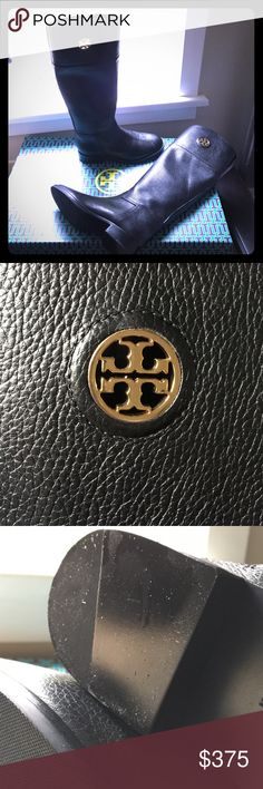 Tory Birch Black Leather Riding Boots Brand New - Never Been Worn!!!  Perfect for any outfit - Gold Tory Burch emblem makes them look even more amazing! Tory Burch Shoes
