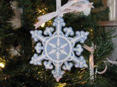 Wedgewood Snowflake Ornament