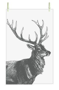 Universal Tea Towel - Reindeer
