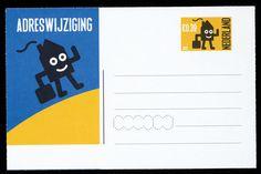 Adreswijzigingskaart, Postwaardestukken Nederland 2001/2002 type Kisman