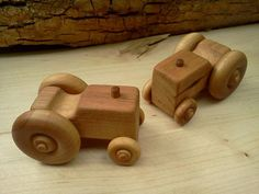 Handcrafted Wooden Tractor by PurcellToys on Etsy