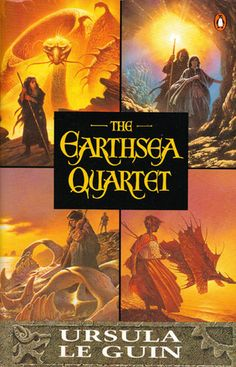 "A superb 4-part fantasy, comparable with the work of Tolkien and C.S. Lewis, the ""Earthsea"" books follow the fortunes of the wizard Ged from his childhood to an age where magic is giving way to evil.As a young dragonlord, Ged, whose use-name is Sparrowhawk, is sent to the island of Roke to learn the true way of magic.Ged becomes an Archmage and helps the High Priestess Tenar escape from the labyrinth of darkness; as the years pass, true magic is forced to submit to the powers of evil and…"
