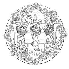 mandala noel ausmalbilder mandala noel coloring pages Adult Coloring Pages, Colouring Pics, Free Printable Coloring Pages, Coloring Books, Halloween Mandala, Christmas Coloring Sheets, Christmas Drawing, Theme Noel, Mandala Coloring