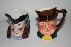 Set 2 Small Porcelain Character Jug Tankard Leonardo Collection Lancaster Mini
