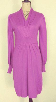 Kerisma Cashmere Blend Shawl Collar Stretch Knit Dress sz L #Kerisma #SheathStretchBodyconSweaterDress #Festive