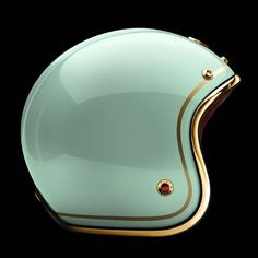 Motorcycle Helmet. Hahn turquoise and gold!!! I need it!!