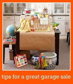 tips for a great garage sale