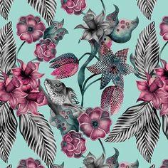 "katya.rozz New ""Jungle"" botanical pattern🌴 available exclusively on #patternbank, link in bio ◾️ #newonpatternbank #surfacepatterndesign #color #interior #interiordesign #decor #pattern #fashion #textileart #textiles #fabric #swimwear #surfacedesign #surfacepatterns #surfacepattern #print #printandpattern #activewear #instafashion #jungle #tropical #exotic #botanical #floralprint #design #surfacespatterns"