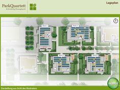 Lageplan - ParkQuartett #ParkQuartett #Illustration #Architektur #Neubau #Neubauprojekt #Eigentumswohnungen #Lageplan #Wohnen #Schwabing #München