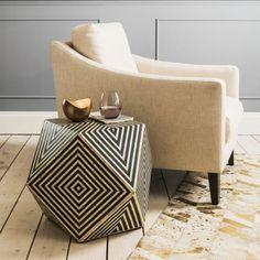 Riley Bone Inaly Side Table - Bone Inlay Furniture - Furniture - Furniture