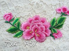 A57 Lace Appliques Wedding Applique, ONE Piece Lace Appliques, Embroidered Appliques. Iron on or Saw On