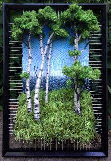"""Képtalálat a következőre: """"martina celerin"""" Art Fibres Textiles, Textile Fiber Art, Weaving Textiles, Weaving Art, Tapestry Weaving, Loom Weaving, Creative Textiles, Landscape Quilts, Unusual Art"""