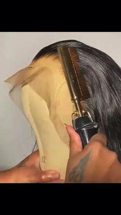 Slick Hairstyles, Baddie Hairstyles, Vintage Hairstyles, Weave Hairstyles, Hairdos, Lace Front Wigs, Lace Wigs, Kids Hairstyles For Wedding, Makeup For Black Skin