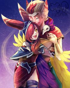 Xayah and Rakan ❣ - League of legends - COSPLAY IS BAEEE! Tap the pin now to grab yourself some BAE Cosplay leggings and shirts! From super hero fitness leggings, super hero fitness shirts, and so much more that wil make you say YASSS! Rakan League Of Legends, League Of Legends Boards, League Of Legends Characters, Lol League Of Legends, Fictional Characters, Rakan Lol, Legend Images, League Memes, Anime Monsters
