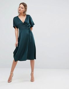 New Look | New Look Wrap Front Midi Dress