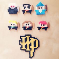 Harry Potter set perler beads by whiskeydreaming