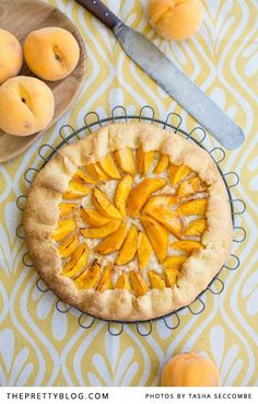 Delicious Peach Galette | Photographer: @Tasha Seccombe, Recipe, Testing & Preparation: @Ilse van der Merwe, Styling: @Nicola Pretorius | Fabric: Indigi Designs |