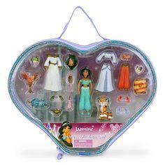 $14.95 Jasmine Figurine Fashion Play Set | Disney Store Toys
