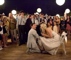 Such a fun photo of the bride and groom at their reception | Then Comes Marriage Photo