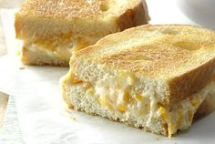 Our Most Gooey Grilled Cheese Sandwiches Ever - Warm, melty cheese between two toasty pieces of bread might just be the ultimate comfort food. Our readers griddle up the best grilled cheese recipes since sliced. Ultimate Grilled Cheese, Making Grilled Cheese, Grilled Cheese Recipes, Grilled Cheeses, Grilled Cheese Sticks, Cheese Appetizers, Baked Chicken Recipes, Grill Sandwich, Recipes