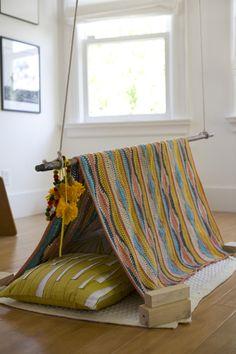 A lazy day fun fort for kiddos. News - Melanie Falick Books. #kids #DIY