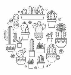 Vector image of Linear design potted cactus elements of a Vector Image, includes. - Cactus bag - Vector image of Linear design potted cactus elements of a Vector Image, includes logo, retro, design - Embroidery Designs, Hand Embroidery, Cactus Embroidery, Kurti Embroidery, Indian Embroidery, Embroidery Stitches, Machine Embroidery, Doodle Drawings, Doodle Art