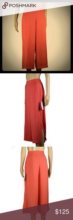 Square pants Orange colored ZARA pants with slit on both sides. Zara Pants Wide Leg