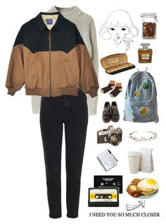 """I NEED YOU"" by elsen713 ❤ liked on Polyvore featuring Topshop, Chanel, WithChic, Dr. Martens, Cult Gaia, CASSETTE and vintage"