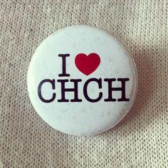 Via @thewaytobe  I heart CHCH. Fund-raising badge for the Christchurch earthquake by Shirtcliffe & Co