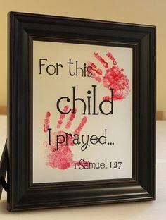 Child's hand print art ♥