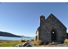 Church of the good shepherd - Lake Tekapo - South Island - New Zealand. Loved it there. Places Around The World, Around The Worlds, Lake Tekapo, The Good Shepherd, South Island, Lonely, Places To Travel, New Zealand, The Dreamers