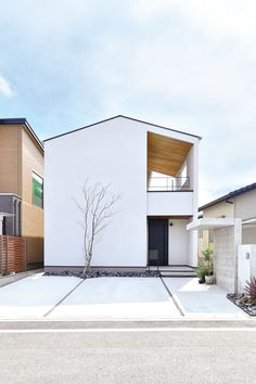 Minimal House Design, Minimal Home, Minimalist Architecture, Facade Architecture, House Roof, Facade House, Japan House Design, Japanese Modern House, Prefab Homes