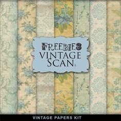 Freebies Vintage Paper Kit