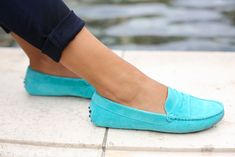 Turquoise Andy Tom flats