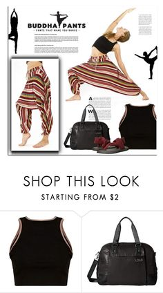 """Striped harem Pants"" by buddhapants ❤ liked on Polyvore featuring LolÃ« and sanuk"
