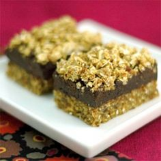 Raw Almond Fudge Bars