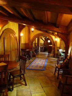 Hobbit House Pictures | The Hobbit Set Photos | Hobbit House Building - Rounded doors and entryways