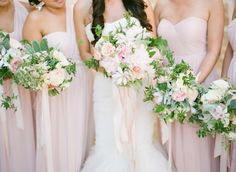 Ribbons on bouquets