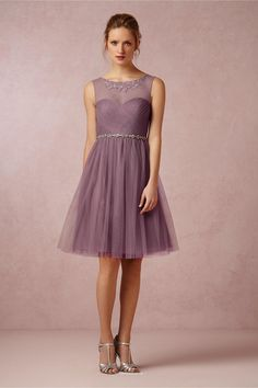 aa883d765a7 illusion boat neckline open back short knee length tulle bridesmaid dress  Short Lace Bridesmaid Dresses