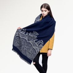 [VIANOSI] Fashion Winter Scarf Women Shawl Brand Luxury Printed Cashmere Female Thicken VS007