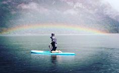 Bohinj, SUP, rainbow, Slovenija Bohinj, Waves, Rainbow, Nature, Sports, Fun, Outdoor, Hs Sports, Fin Fun