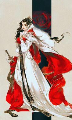 """Mingjiao (Ming Cult) from """"Yi Chui Wu Yue Tiao Man Ji"""" by Ibuki Satsuki 伊吹五月 Asian Style, Chinese Style, Anime Art Girl, Manga Art, Fantasy Character Design, Character Art, Chinese Drawings, China Art, Beautiful Anime Girl"""