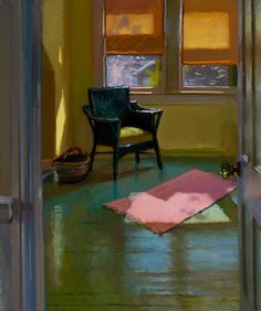 """Nate's Room"": Lea Wight  my comment was ""the warmth and stillness has movement"""