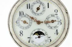 Silver Pocket Watch with Triple Dial and by timekeepersinclayton