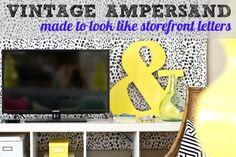 DIY Vintage ampersand made to look like old storefront letters