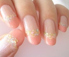 french + shell nails