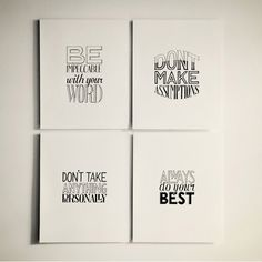 Hand Lettering of Four Agreements by Sean McCabe via Behance