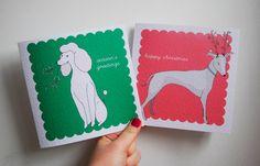 Christmas Dogs - Set of 6 Christmas Cards