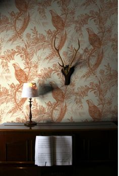 Pheasant wallpaper, £96.00  Per Roll by Timourous Beasties